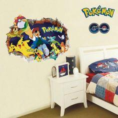 Pokémon Wall Decals – the treasure thrift Pokemon Go, Pikachu, Pokemon Wall Decals, Cabin Kitchens, Room Wallpaper, Interior Walls, Your Space, Kids Bedroom, Creative Design