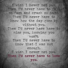"""""""Then I'd never have to love you.  #love #life #live #writing #writersofig #writersofinstagram #poems #poetry #proses #heartbreak #loneliness #instadaily…"""""""