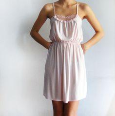 Dress made from vintage slip