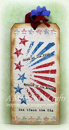A Mermaid's Crafts: Little Scrap Pieces Fun Friday - Let Freedom Ring ~ indymermaid.blogspot.com
