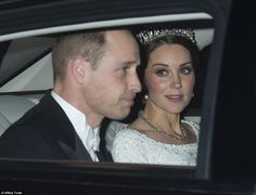 The Duchess swept her famous brunette locks into a low chignon for the glittering event at...