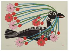 Courting Loon (2008) by Kenojuak Ashevak,