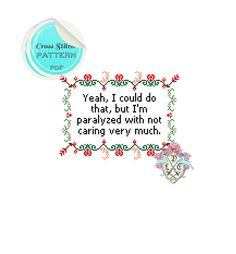 Cross Stitch Pattern Yeah I Could Do by plasticlittlecovers, £2.50