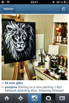 Lion painting art beauty