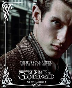 Fantastic Beasts: The Crimes of Grindelwald - Callum Turner as Theseus Scamander Film Fantastic, Fantastic Beasts Movie, Fantastic Beasts And Where, Credence Fantastic Beasts, The Beast, Harry Potter Universal, Harry Potter World, Harry Potter Films, Harry E Gina