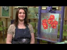 Poppies in Glass floral oil Painting tutorial  - Paint With Maz Online Class PREVIEW - YouTube