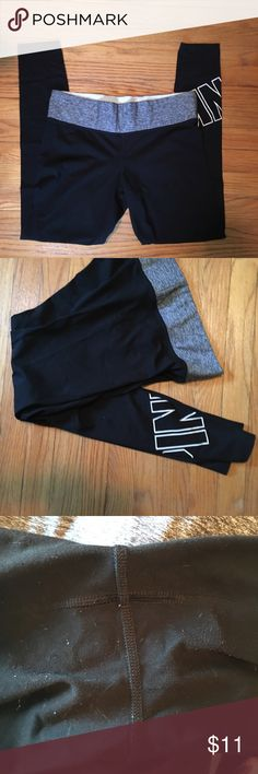Victoria's Secret pink reversible leggings Wear pictured - between legs and on the waistband not size tag but fit medium PINK Victoria's Secret Pants Leggings
