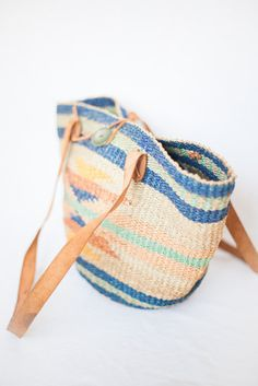 woven straw geometric farmers market bag