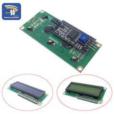 LCD1602 + I2C módulo LCD 1602 Azul/Amarillo Verde pantalla IIC/I2C para arduino LCD1602 placa Adaptadora