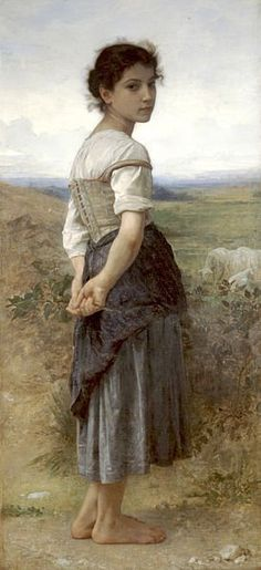 Learn more about Jeune Bergere (Young Shepherdess) William-Adolphe Bouguereau - oil artwork, painted by one of the most celebrated masters in the history of art. William Adolphe Bouguereau, Paintings I Love, Beautiful Paintings, Painting Pictures, Figure Painting, Painting & Drawing, Carl Spitzweg, Munier, Illustration Art