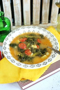 Portugal, Caldo, Okra, Chorizo, Frankfurt, Soup Recipes, Chicken, Meat, Kitchen