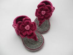 Crochet baby sandals baby gladiator sandals baby by editaedituke, £6.50