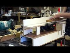 Bancada para Plaina Invertida (Bench Top Jointer) - YouTube