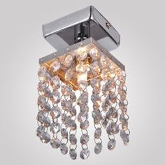 Amazon.com: LightInTheBox 1 Light Mini Crystal Pendant Chandelier with Solid Fixture in Chrome Finish: Home Improvement