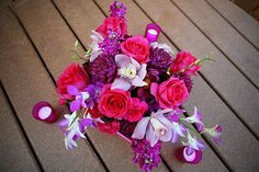 wedding centerpieces pink purple white - Google Search