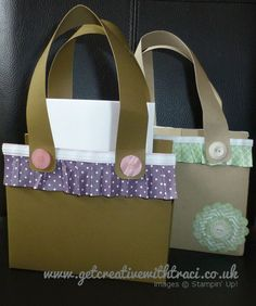 One Sheet Wonder Box or bag to go with the One Sheet Wonder 11 cards - video available with Template by Independent Stampin' Up! Demonstrator Traci Cornelius of www.getcreativewithtraci.co.uk