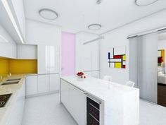 Interior Architecture of an Apartment in Kaliningrad, Russia Colorful Apartment, Grand Designs, Apartment Interior Design, Decorating Small Spaces, Architect Design, Little Houses, Feng Shui, Kitchen Decor, Kitchen Ideas