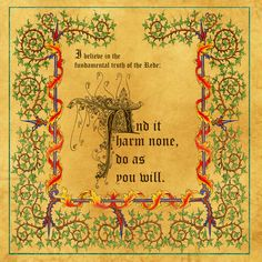 Book of Shadows Truth of the Rede Page 3 by Brightstone.deviantart.com