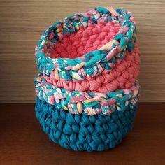 #crochê #crochet #croche #fiodemalha #malhamaniacas #trapillo #tshirtyarn #crochetbasket #cesto #cestodefiodemalha #cestodecroche #cestinho #organização #decoração #fabricyarn #trapilho
