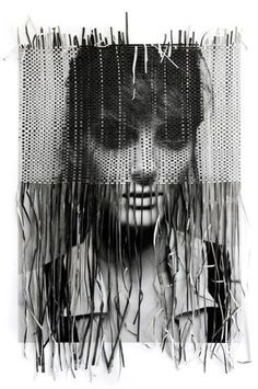 Paper Weaving Portrait | photographer: Michelangelo di Battista , paper weaving: Tina  Berning