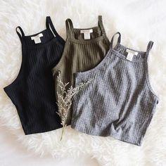 Crop rol negro, blanco & gris