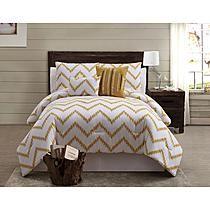 Zigfield 5 Piece 100% Cotton Comforter Set - Gold