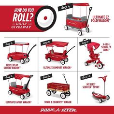 There's still time to win today's prize, the Ultimate EZ Fold Wagon! Don't forget to come back for the other #HowDoYouRoll #Giveaway items too!