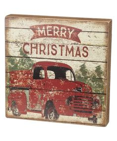 Merry Christmas Truck Block Sign Zulilyfinds