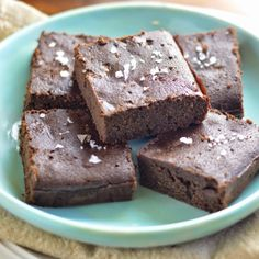 These gluten free double chocolate salted brownies are grain and dairy free. Plus they are fudgey and delicious!