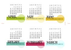 Free 2014 Calendar Cards for Project Life from scrappystickyinkymess