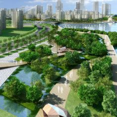 Zhuhai Cross Gate Central Business District Landscape Design Competition    Design Company  HASSELL