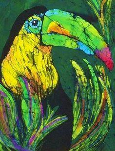 Toucan.     Kay Shaffer.     Batik