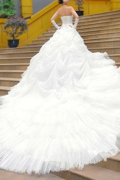 Bohemian Style Oversized Skirt Lace Wedding Dress OASAP.com. SO LONG. Beautiful! $122 wow!