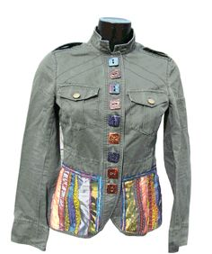 Add a peplum to the bottom of a jacket.  Take off the band first. Ideas for using Buttons by McAnaraks
