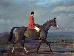 Colonel Lord Barnby on 'Crusader' with the Blankney Hounds, 1929 by Alfred James Munnings