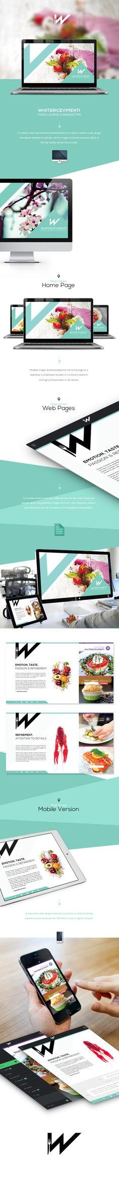 WhiteRicevimenti | Web Design by Johanna Roussel, via Behance