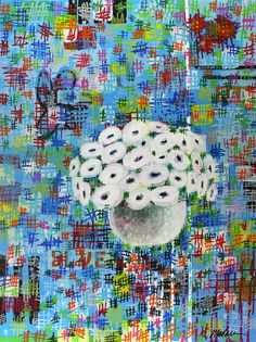 Still life, Poppies, Flower painting, wall art, acrylic painting, on Etsy, $430.00