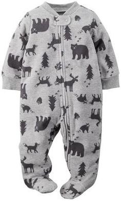Carter's Print Footie (Baby) - Wildlife