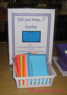 Mrs. Lodge's Library: Library Centers