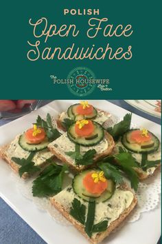 It didn't take me long to realize that canapes, Polish kanapki, little open-face sandwiches are a thing in Poland. They might be put together casually, for breakfast or supper.