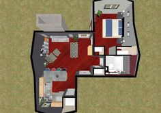 Home And Apartment The Best Design Of House Plan With Brown Lmainating Flooring Gray Tiny Floor