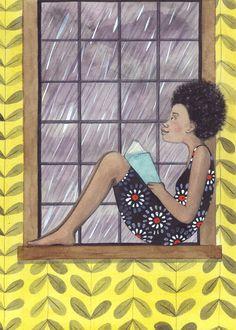 Girl Reading 2 by SophieBlackall on Etsy