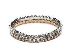 Armband Abrazi Rhodium Rose #swarovski #bracelets #brautschmuck #bridaljewellery #rose #crystals #blingbling