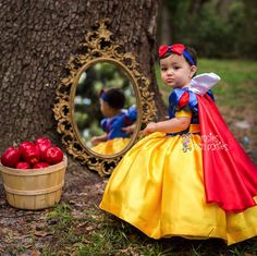 Princess Snow White Dress Outfit or Costume for your Lil Girl! ***CAPE AND HEADBAND INCLUDED*** ♥¸¸.•*´¯`♥ UPDATE ♥¸¸.•*´¯`♥UPDATE ♥¸¸.•*´¯`♥ 12/28/17 These dresses have become a HUGE hit and selling more than I could have EVER imagined. I do not mean to toot my own horn, please