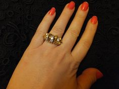 A personal favorite from my Etsy shop https://www.etsy.com/listing/99874229/gold-ring-gold-crystal-ringgilt