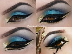 Image result for cleopatra temporary tattoo eyeliner