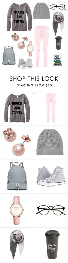 """""""books and coffee"""" by ludopolier ❤ liked on Polyvore featuring Boohoo, Kate Spade, Madeleine Thompson, MICHAEL Michael Kors, Converse, Topshop, BeckSöndergaard, The Created Co. and FabFunky"""