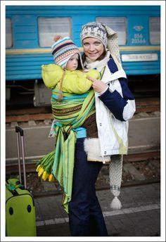 c119cc162c1 Zara Tri Green Ellevill Wraparound Baby Carrier. Wrap Your Baby