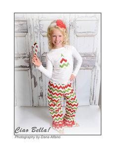 Pink Glitter Christmas Tree Pajamas, Girls Christmas Pajamas ...