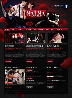 Template 38361 - Salsa Dancing Website Template